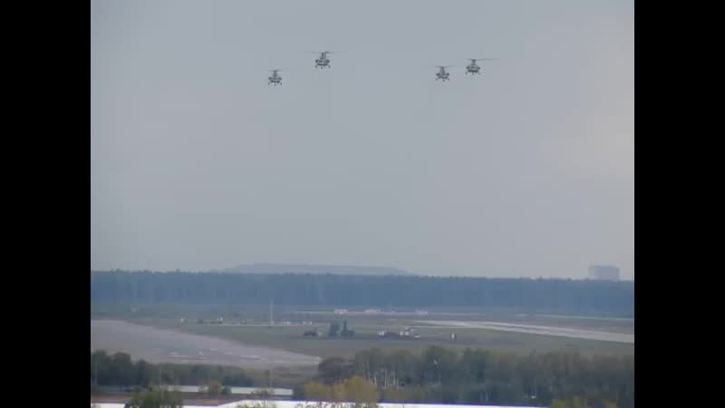 Вертолётная четвёрка взлетела с аэродрома Чкаловский