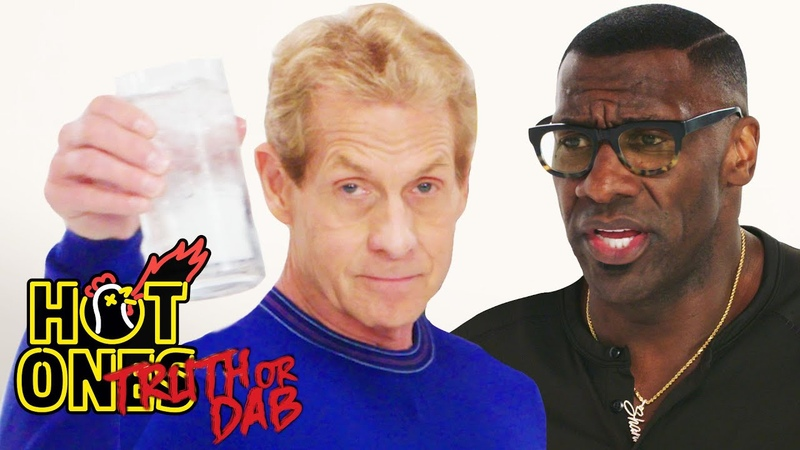 Skip Bayless and Shannon Sharpe Play Truth or Dab   Hot Ones