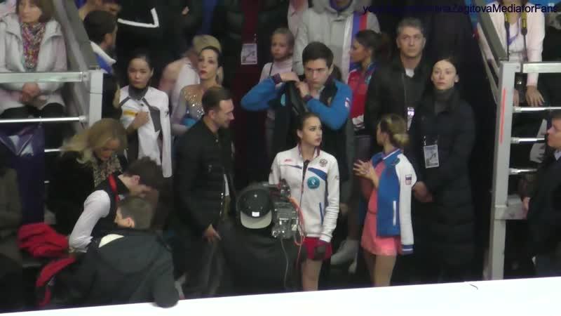 ►Rostelecom Cup 2018 | Перед церемонией награждения Алина Загитова