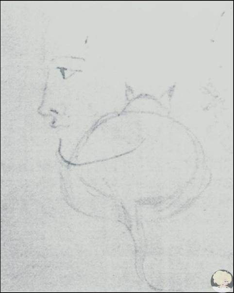 Пушкин любил рисовать жирных котов.