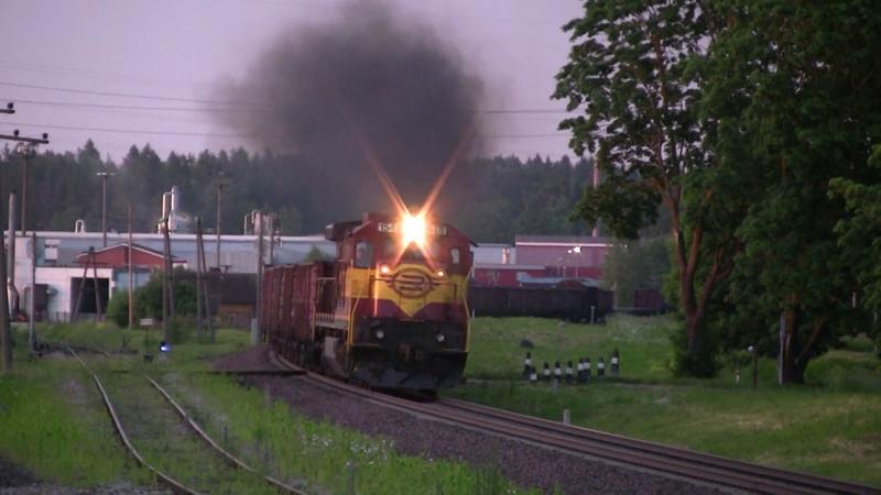 Тепловоз Ц36 7и 1546 на ст. Раквере GE C36 7i 1546 at Rakvere station