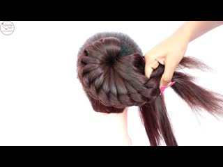 New bun hairstyle for wedding and party || trending hairstyle || party hairstyle || updo hairstyle