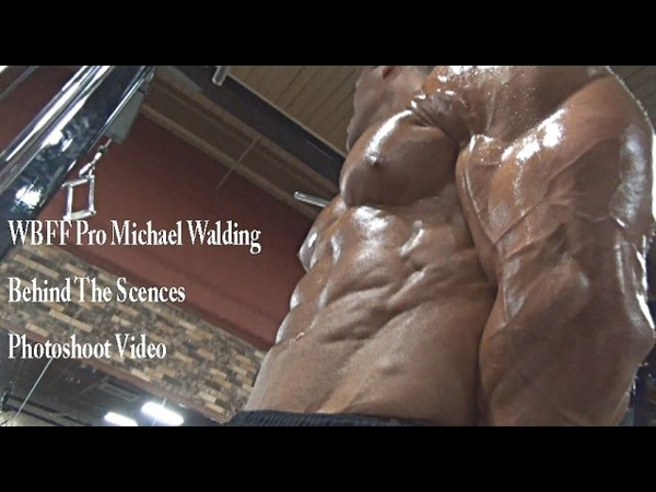 WBFF Bodybuilding Pro Michael Walding Behind The Scenes Photo shoot