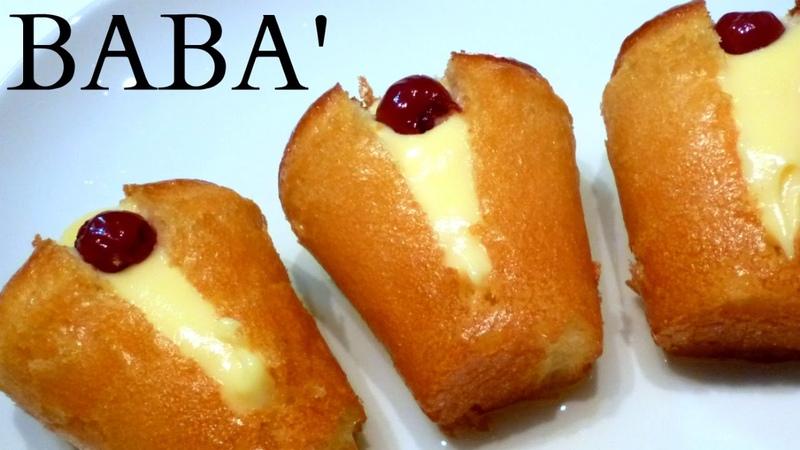 RUM BABA RECIPE Babà alla crema (italian cake) by ItalianCakes