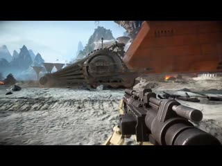 Check out this big dummy armored tank droid that got stuck.mp4