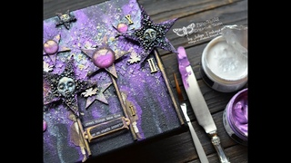 Mixed Media Canvas with Icing Pastes by Juliya