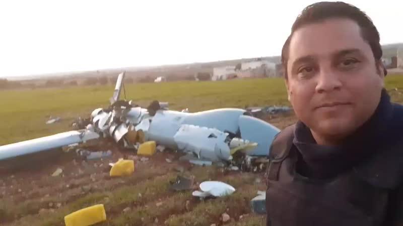 THE SYRIAN ARMY DOWNING A TURKISH ARMY DRONE IN DADEKH REGION S E IDLIB