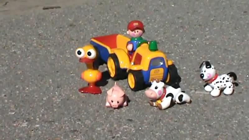 Трактор Толо Tolo игрушки собачка свинья корова фермер 1987 СССР