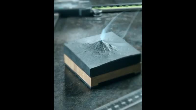 Аромолампа в виде вулкана на ЧПУ станке