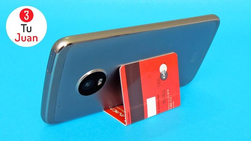 5 Soportes para Celular con Tarjetas de Presentación Plásticas o de Bolsillo Manualidades DIY 📱