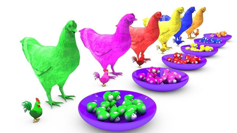 Pelajari warna dengan anak ayam dan telur superhero Mary punya lagu domba kecil