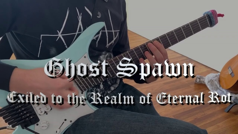 Exiled to the Realm of Eternal Rot Ghost Spawn Guitar Playthrough Mooer GE200 and Kvlt Drums