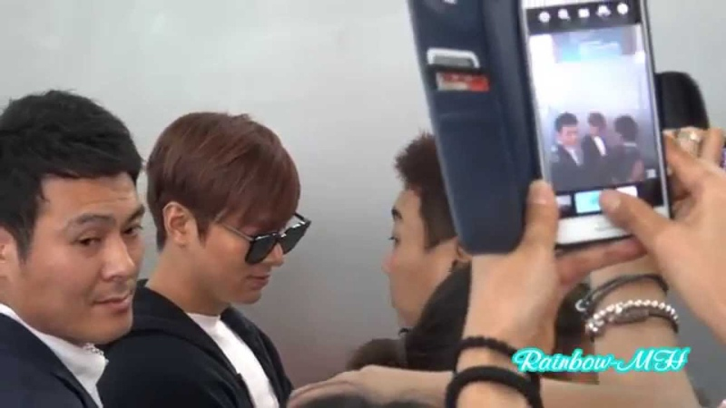 Fancam 20150723 LeeMinHo At Incheon Airport going to Guangzhou~~by Rainbow MH