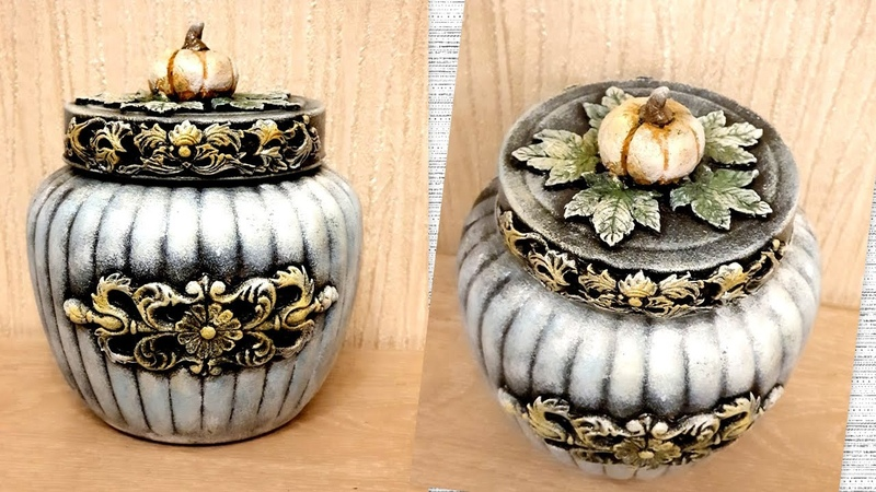 DIY /Vintage glass jar decoration idea/Jar crafts