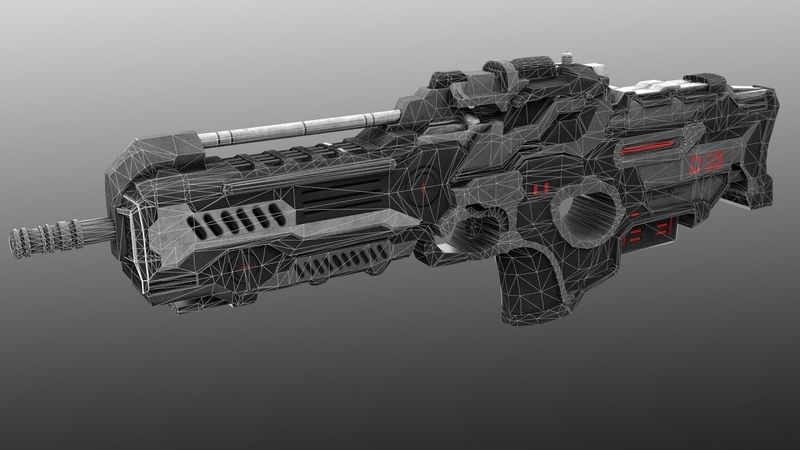 Sci-fi weapon hard surface modeling in 3Ds max – part 4, the last part