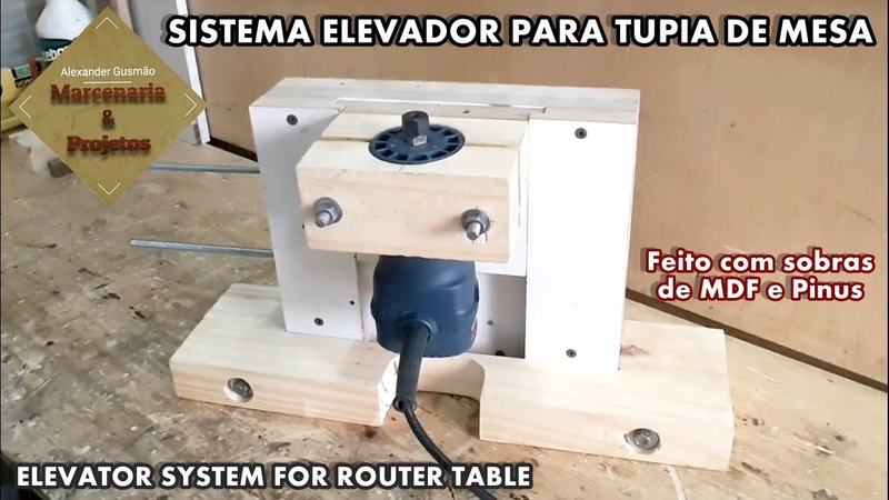SISTEMA ELEVADOR PARA TUPIA DE MESA (2/2) - Elevator system for router table