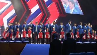Церемония чествования хоккейной команды ЦСКА