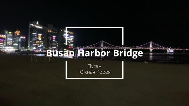 Travel Vlog 6 Пусан Южная Корея Приезд и вечерняя прогулка по набережной у Busan Harbor Bridge