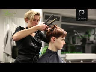 Medium wavy hair to short pixie haircut |extreme makeover by jacky