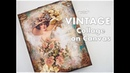 Vintage Collage on Canvas Mixed Media Process Tutorial ♡ Maremi's Small Art ♡