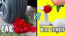 Car vs Meat Grinder! Who Wins? Crushing Soft Crunchy Red Things | Crush Science