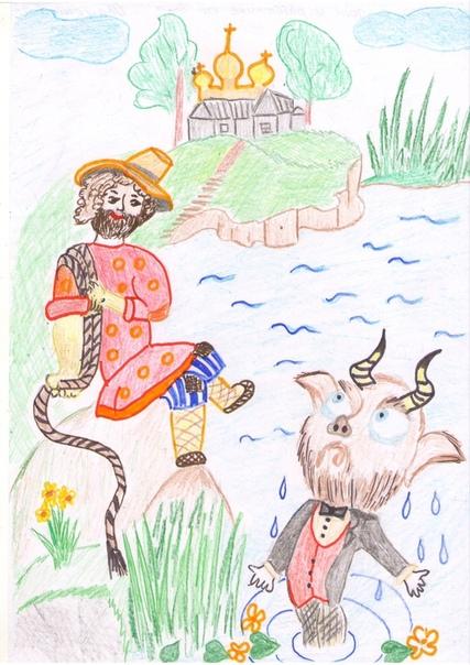 Сказка о попе и его работнике балде картинки нарисованные карандашом
