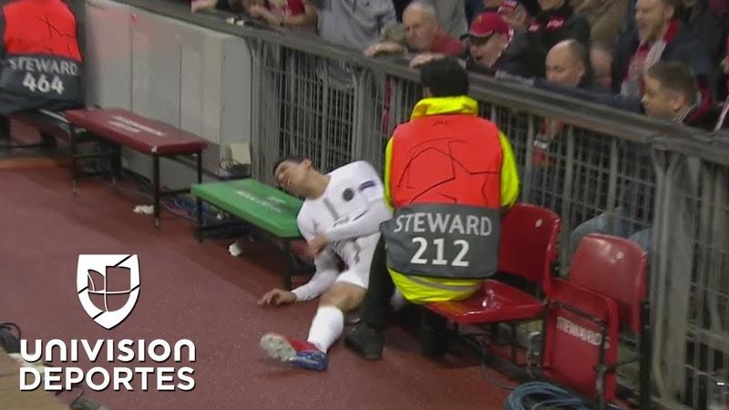 Solo verlo duele Di María casi se fractura en este tremendo golpazo tras chocar con Young