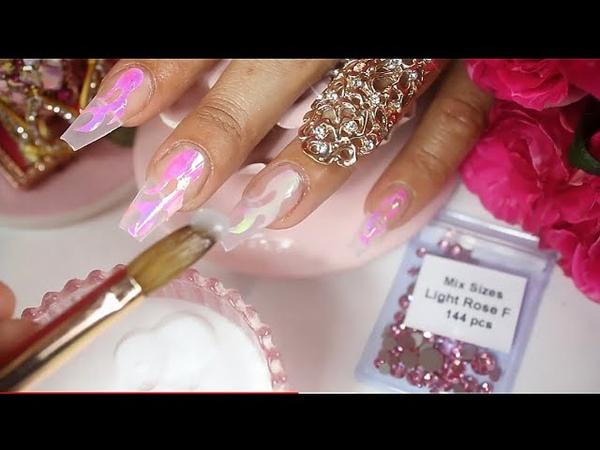 UÑAS ACRILICAS hermosas con flamas 🔥 lo último en tendencia en uñas acrilicas 💅🏼