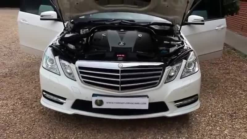 Mercedes E350 CDI Blueefficiency Sport Automatic in Calcite White with Full Blac