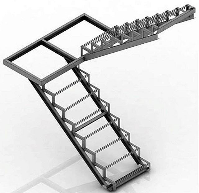 Лестница из профильной трубы своими руками: чертежи и пошаговый монтаж, изображение №4