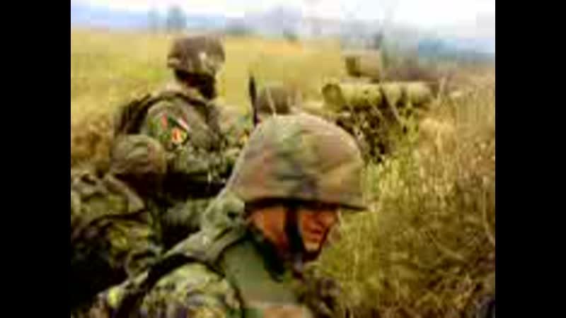 Недалеко от Цхинвали. у солдата на дальнем плане ПТРК 9К111 Фагот (российско Грузинская война 2008)