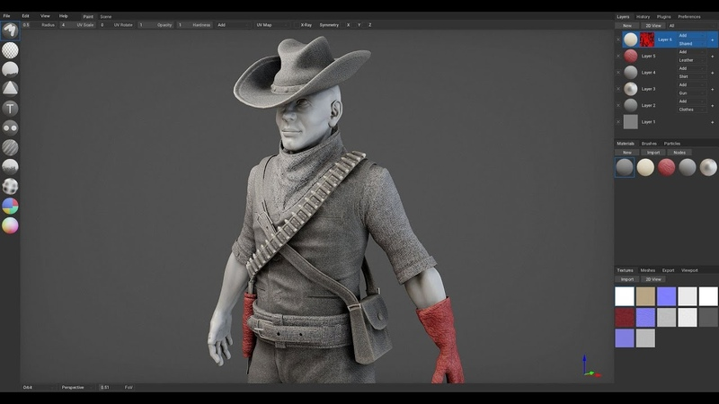 Texturing a Cowboy ArmorPaint 0 6