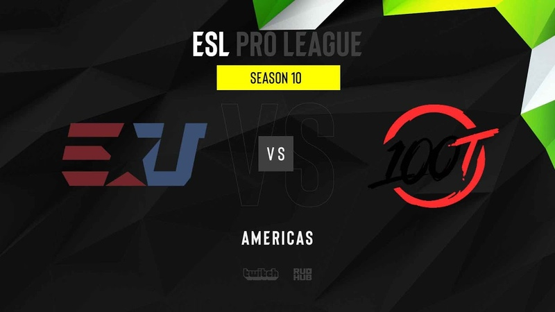 EUnited vs 100 Thieves ESL Pro League S10 NA map2 de mirage MintGod