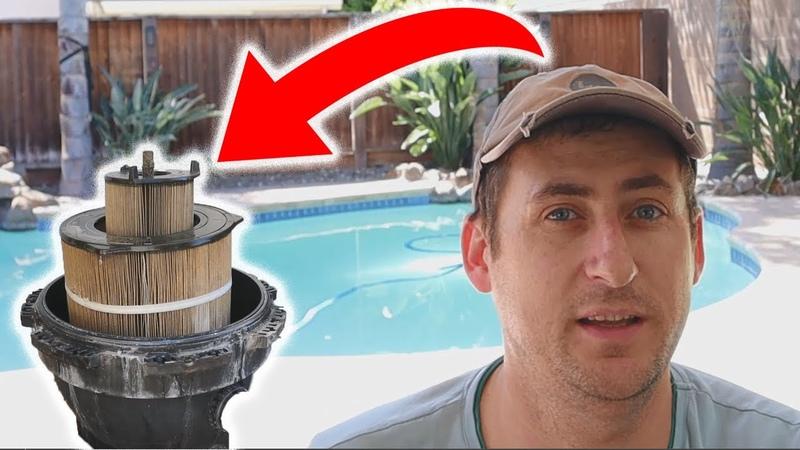 Дом в США Сюрприз с бассейном Чистим фильтр