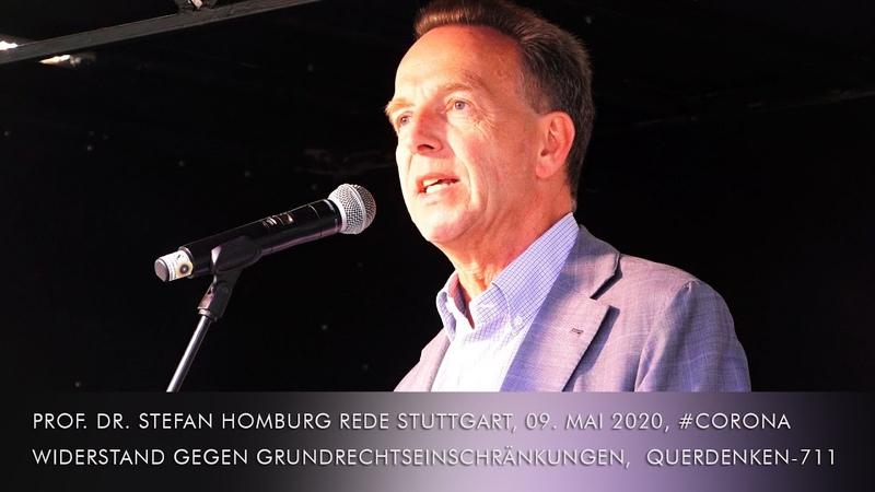 Prof Stefan Homburg Rede Stuttgart 9 5 2020 Corona Widerstand gegen Grundrechtseinschränkungen