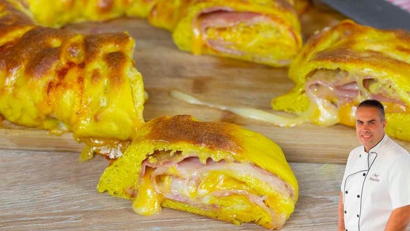 Rosca de PAN RELLENO es increible el sabor tan brutal que tiene ¡MIRA SU INTERIOR!