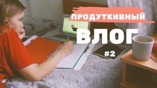 ПРОДУКТИВНЫЙ ВЛОГ #2 курсовая как начать/  устраиваюсь на работу/  учеба на каникулах