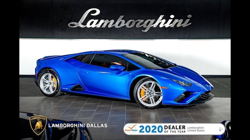 2020 Lamborghini Huracan EVO RWD Blu Eleos
