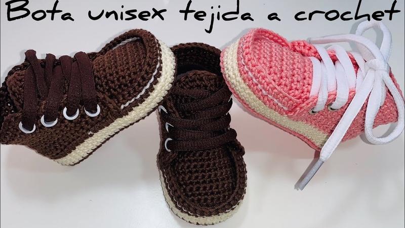 Botas tejidas a crochet| 3/6 Meses| Paso A Paso | Crochet Baby boots