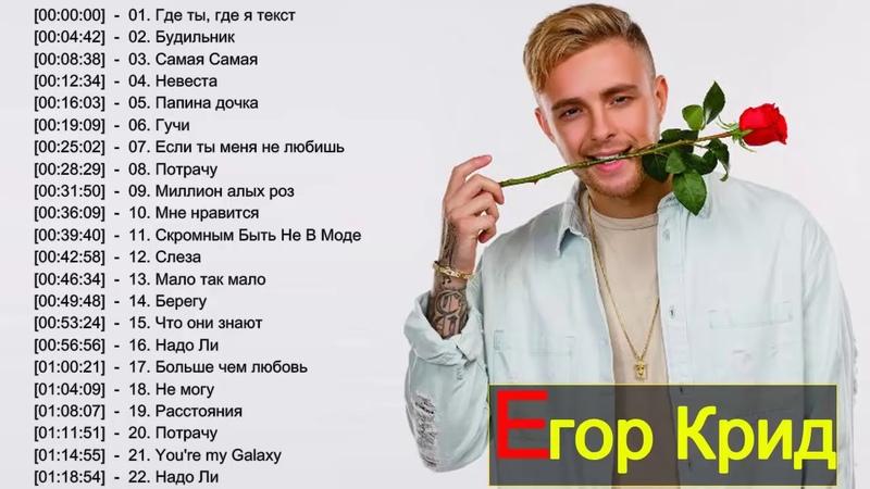 Егор Крид Слушать песни онлайн Egor Kreed New Album 2018