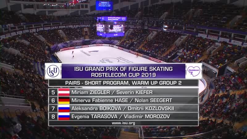 Pairs Short Program Rostelecom Cup 2019 @GPFigure Full HD