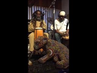 Nyabinghi meditationfoundational elders in the studioRas Ivi Tafari l