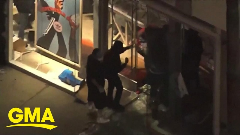 Riots looting break out in California after George Floyd killing l GMA
