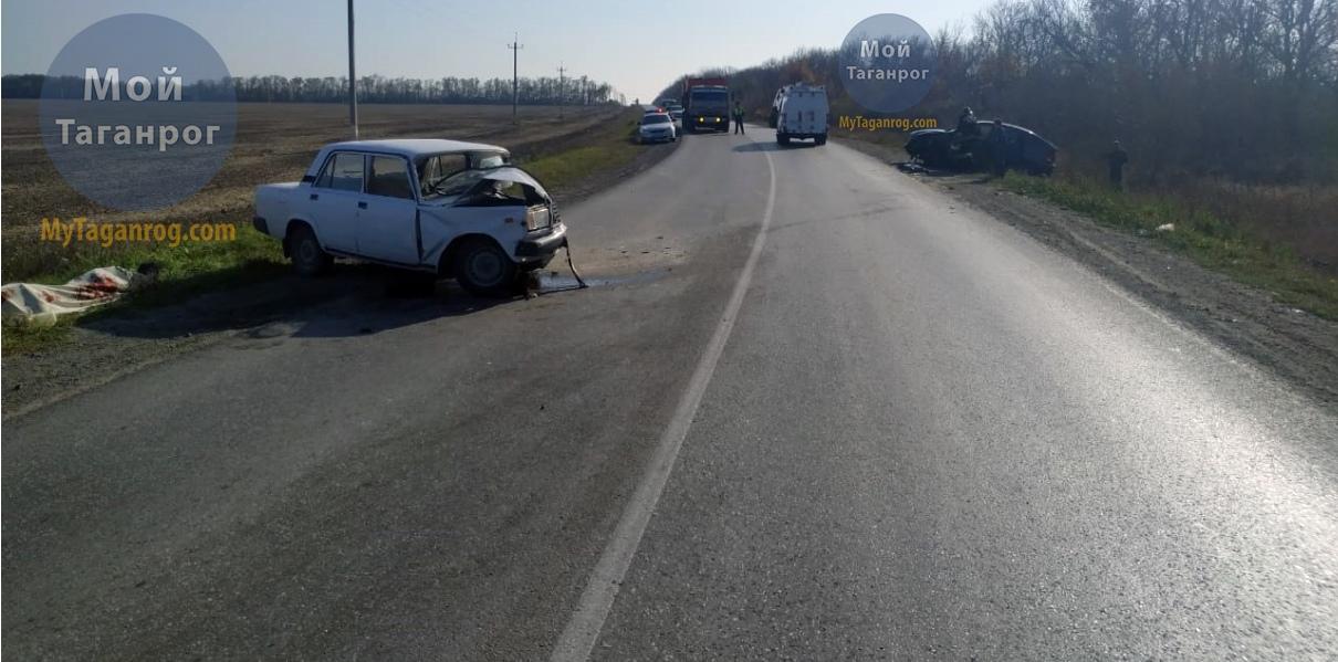 Под Таганрогом при столкновении автомобилей «ВАЗ-2107» и SsangYong Actyon погиб человек