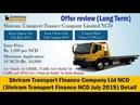 Shriram Transport Finance NCD July 2019 Public Issue Detail