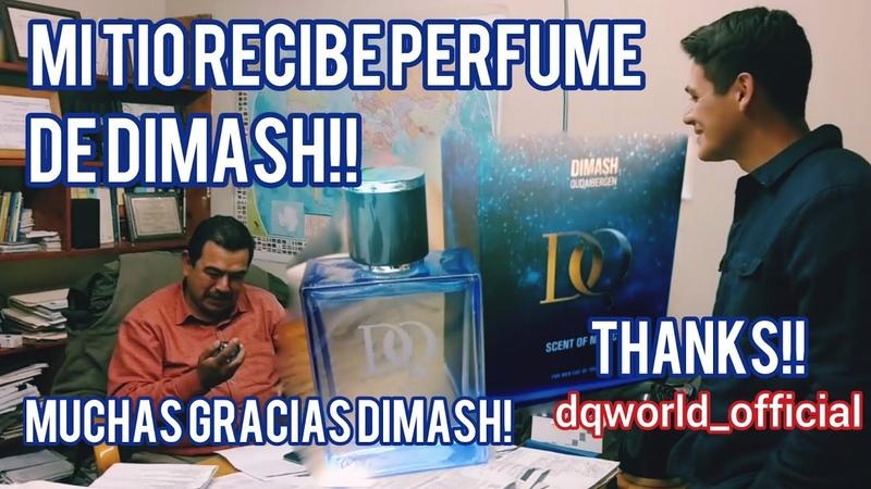 My uncle receives perfume from Dimash Mi tío recibe perfume de Dimash Thanks SUB ENG