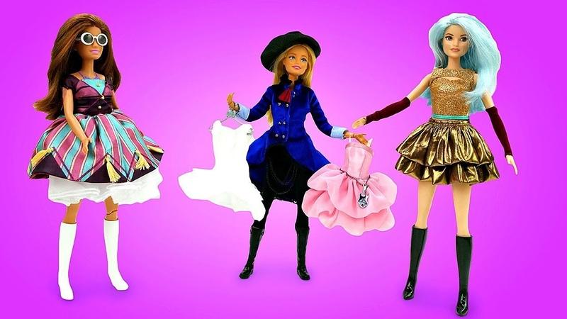 Video e giochi per bambini Barbie compra un nuovo vestito Giocattoli educativi