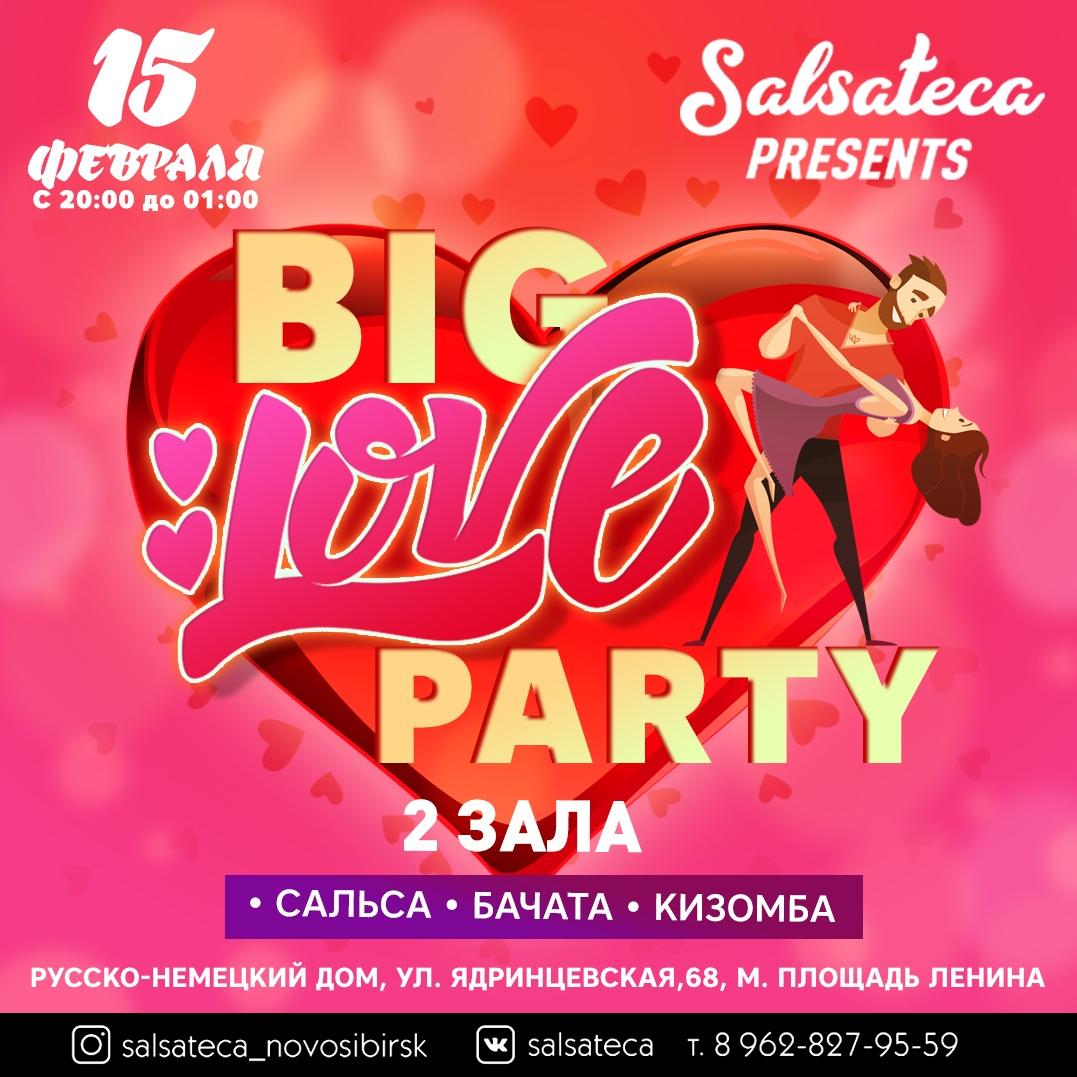 Афиша Новосибирск 15 ФЕВРАЛЯ (СУББОТА) - BIG LOVE PARTY