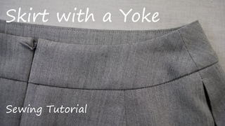 How to sew a Skirt with a Yoke