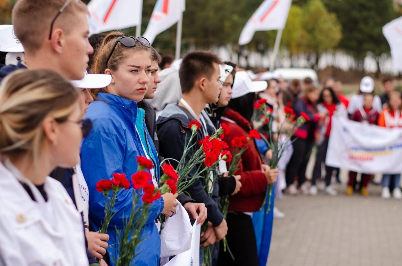 Всероссийская патриотическая акция прошла под Таганрогом на «Самбекских высотах»